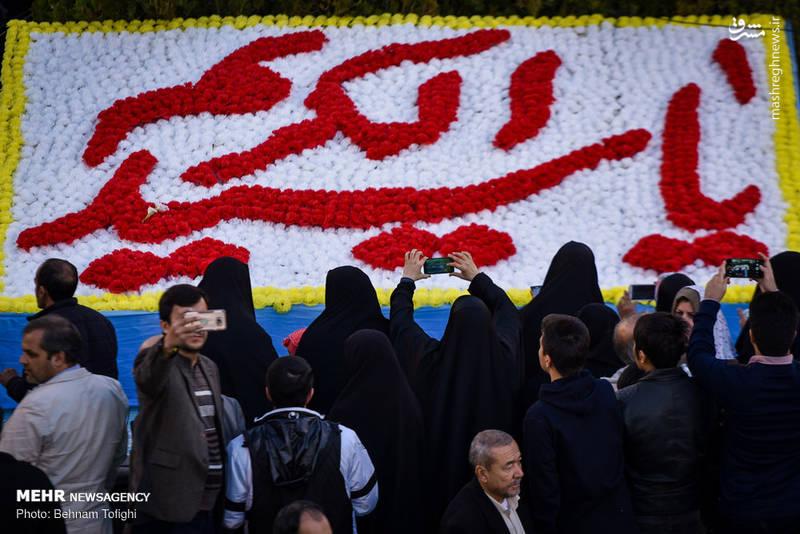 تصاویر تعویض پرچم گنبد حرم عبدالعظیم الحسنی